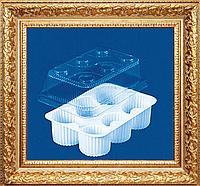 Упаковка для кексов,пирожных на 6 ячейки