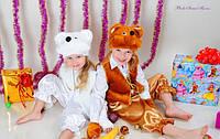 Карнавальный костюм Медведь,Умка,Бурый Белый