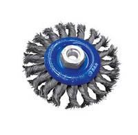 Щетка дисковая 150 мм х М14 нержавеющая плетеная проволока 0,5 мм S&R