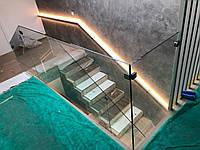 Лестницы, перила, ступени, ограждения из стекла