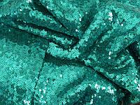 Паеточная ткань мелкая морская волна