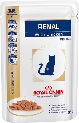 Паучи Royal Canin Renal Feline Chicken 85г (в упаковці 12шт.)