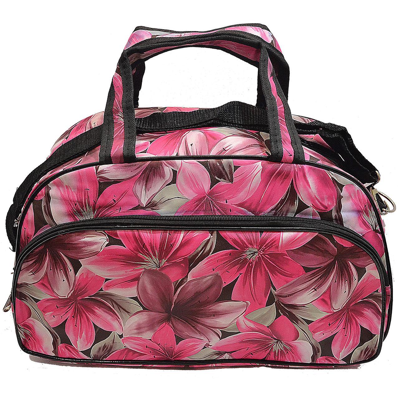 cbdd044ee50a Дорожная сумка L, лилия 2812L Розовый (53х23х19 см) купить оптом со склада