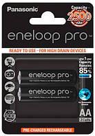 Аккумуляторы Eneloop Pro AA (2500 2BP mAh Ni-Mh), 2 шт, Panasonic