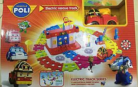 Robocar Poli - Electric Track Пожарная станция Роя + электрическая машинка