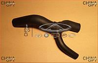Патрубок радиатора охлаждения, нижний, рогатка, Chery Amulet [1.6,до 2010г.], Аftermarket