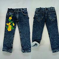 Джинсовые штаны с травкой внутри для девочки Турция