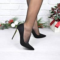 Туфли женские на шпильке Lady Star черный замш 4011, женская обувь