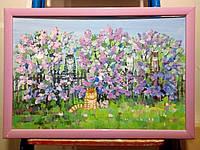 """Картина в раме """"Коты"""", живопись,картина написанная  акрилом"""