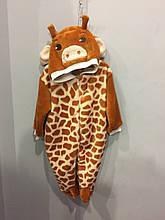 Махровый комбинезон жираф