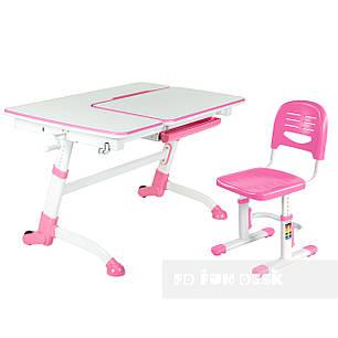 Детская парта-трансформер FunDesk Amare Pink+ Детский стул SST3 Pink, фото 2