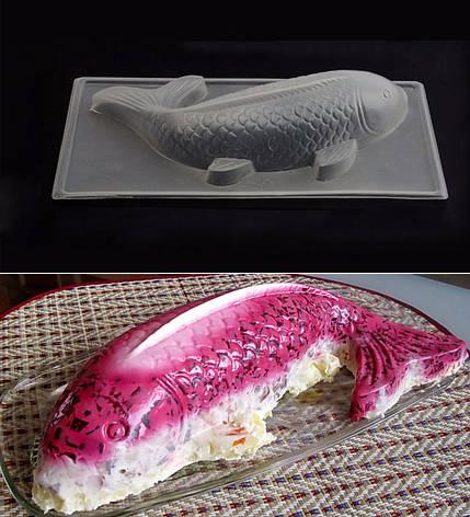 Форма Рыба для салатов, десертов, желе пластик , фото 2