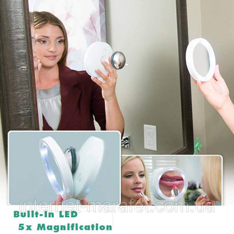 Зеркало с увеличением и подсветкой Свивел Брайт