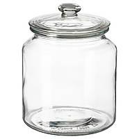 IKEA VARDAGEN Банка с крышкой, прозрачное стекло  (002.919.28)