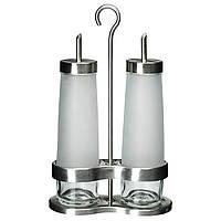 IKEA DROPPAR Емкость для масло/уксус, 3 шт., Матовое стекло, нержавеющая сталь  (601.136.12)