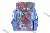 """Сумка рюкзак детская (Человек-паук) (синяя) 18x30 """"LP"""" купить оптом сумку детскую"""