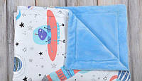 Теплое детское одеяло в коляску Космос