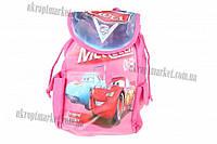 """Сумка рюкзак детская (Тачки) (розовая) 18x30 """"LP"""" купить оптом сумку детскую"""