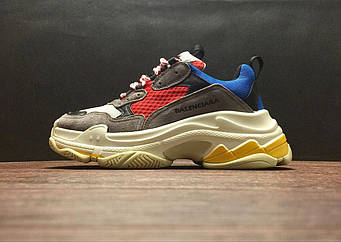 Кроссовки Balenciaga Triple-S Trainer Yellow Blue Red