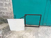 Люк невидимка 400x700 ревизионный сдвижной с замками hafele, фото 1