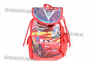 """Сумка рюкзак детская (Тачки) (красная) 18x30 """"LP"""" купить оптом сумку детскую"""