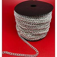 Цепочка для брелоков. Светлое серебро. 5мм
