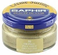 Увлажняющий крем для обуви Saphir Creme Surfine бледное золото (50) 50 мл