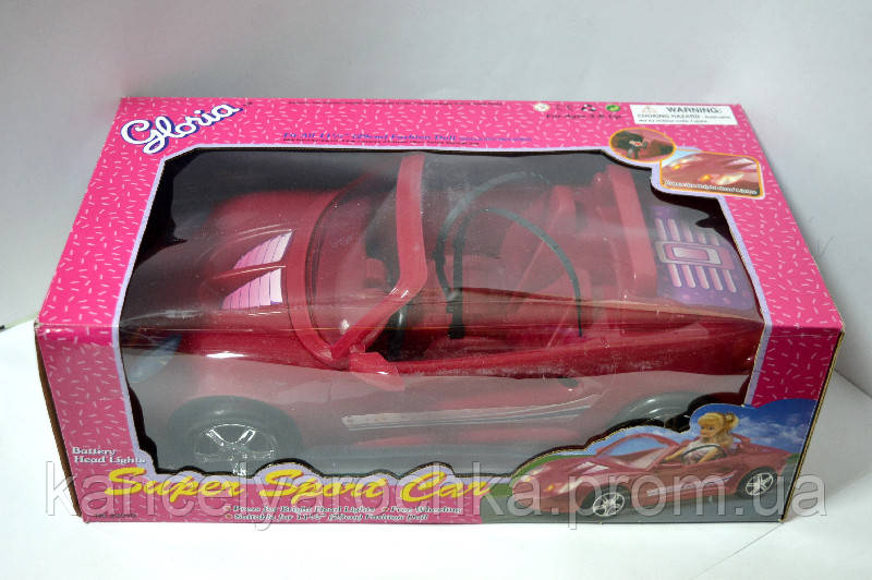 Машина кабриолет для куклы 22010 на батар, фото 1
