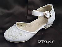 Белые лакированные туфельки для девочки