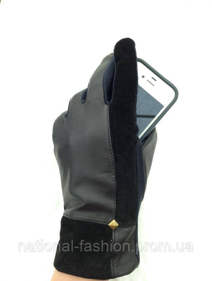 Сенсорные кожаные женские перчатки Everiot Touch EVT-3625