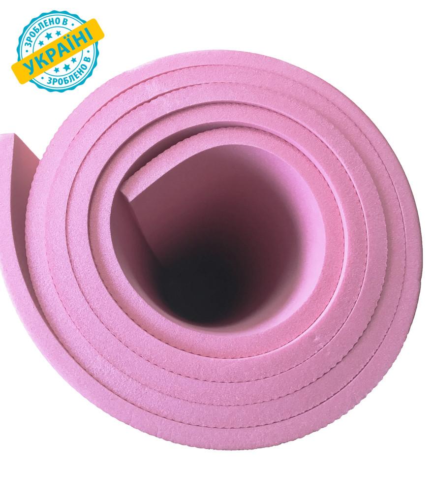 Коврик (каремат) 180*60*0.6 см для туризма и спорта Eva-Line двухсторонний розовый С