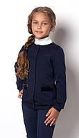 Школьная кофта для девочки на пуговицах