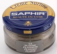 Увлажняющий крем для обуви Saphir Creme Surfine платина (64) 50 мл