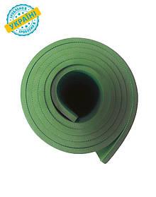Коврик (каремат) 200*70*0.6 см для туризма и спорта Eva-Line двухсторонний зеленый Уценка