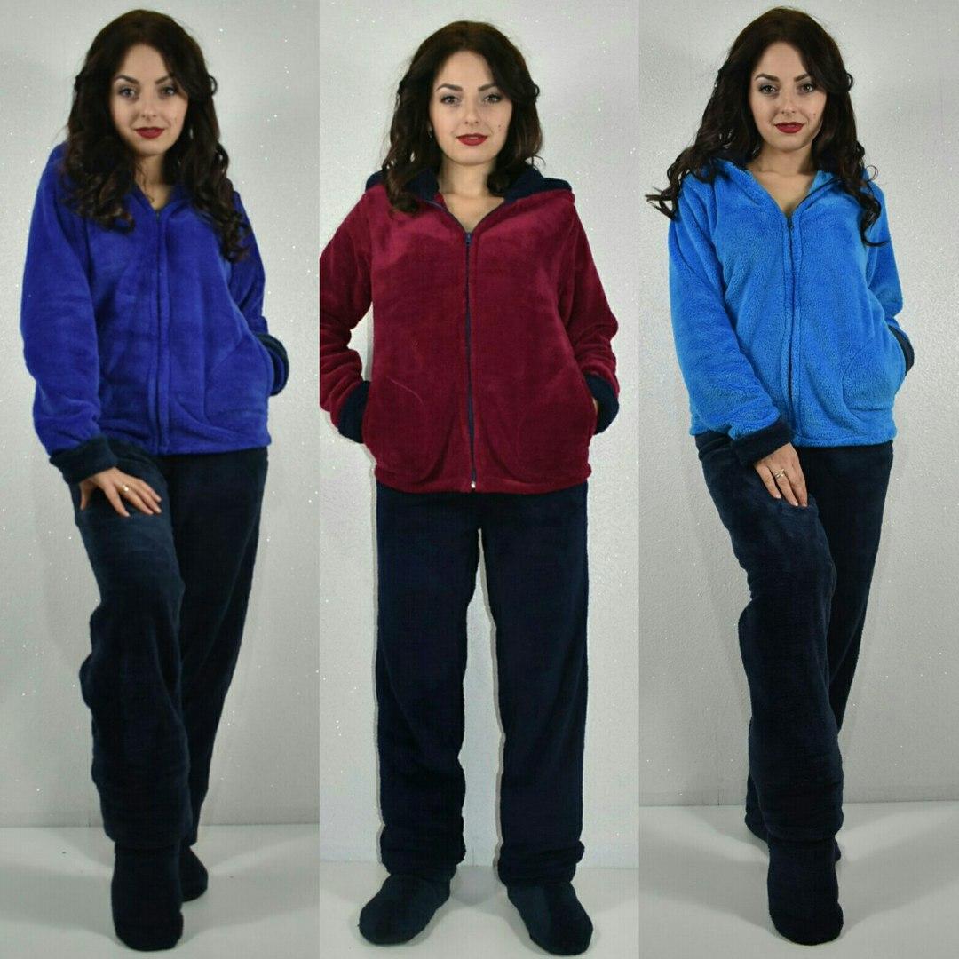 Женская махровая пижама батал 52-54 - Модный Дом - интернет-магазин женской  и ff97721030e6e