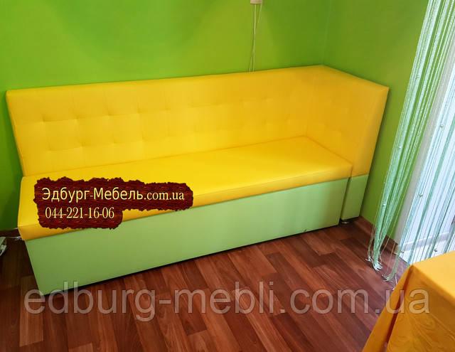 Яркий диван для кухни со спальным местом