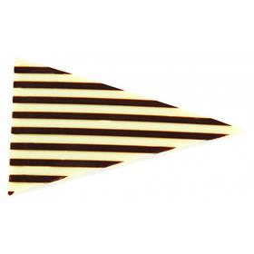 Шоколадний декор трикутники в полоску Barbara Luijckx
