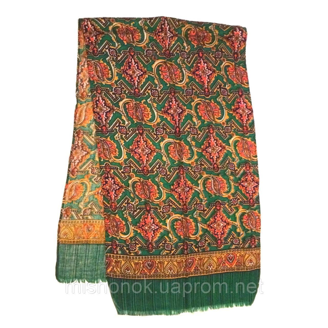 Мужской шарф с узором, тонкая шерсть Кашне - Комиссионочка