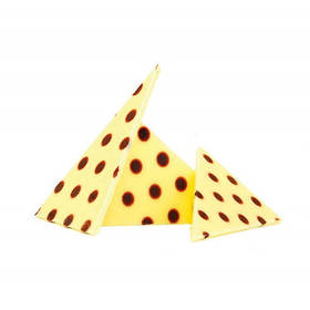 Шоколадний декор трикутники в горошок Barbara Luijckx