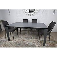 Стол обеденный Nicolas LIVERPOOL керамика графит MD000237