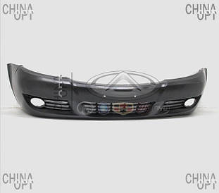 Бампер передний, пластик, черный, не крашеный, Lifan 520 [Breez, 1.3], LCA2803000, Aftermarket