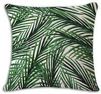 Тропическа травка декоративная наволочка на подушку 45*45 см