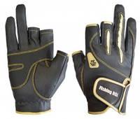 Перчатка спиннингиста Fishing ROI WK-04 black-gold XL (c 2 пальц.)