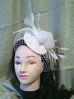 Свадебная шляпка вуалетка
