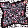 Баклажановый павлопосадский платок Царский, фото 4