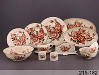 Столовый сервиз Lefard Корейская роза 28 предметов, 215-182