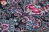 Баклажановый павлопосадский платок Царский, фото 3
