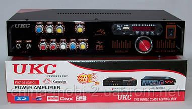 Рэковый усилитель мощности 2*90W UKC KA-102F MP3/FM/Karaoke