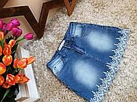 Юбка джинсовая мини Оптом и в розницу Турция   от 3 до 7 лет
