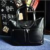 Женская большая + маленькая сумка набор черная из экокожи на молнии опт